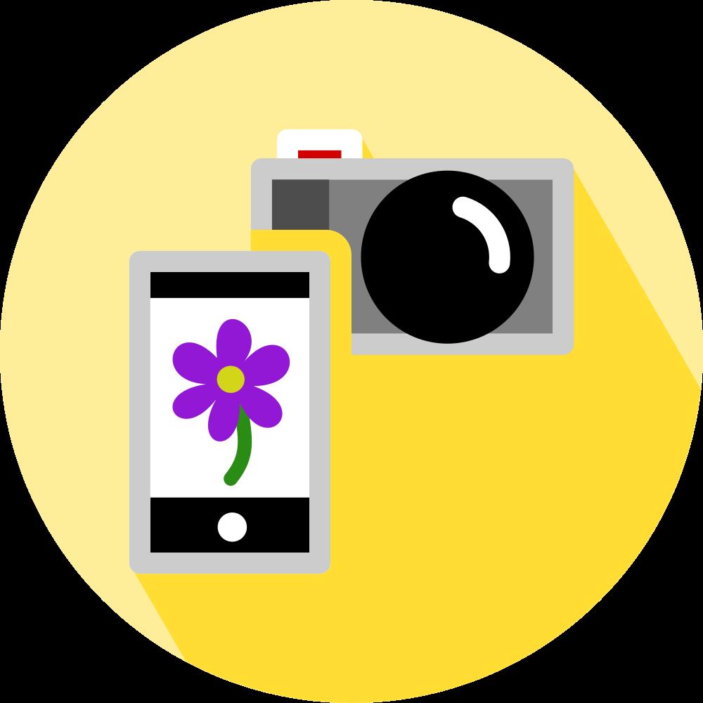 Smartphone und Kamera