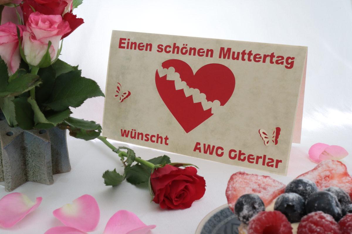 Karte zum Muttertag mit Rosen