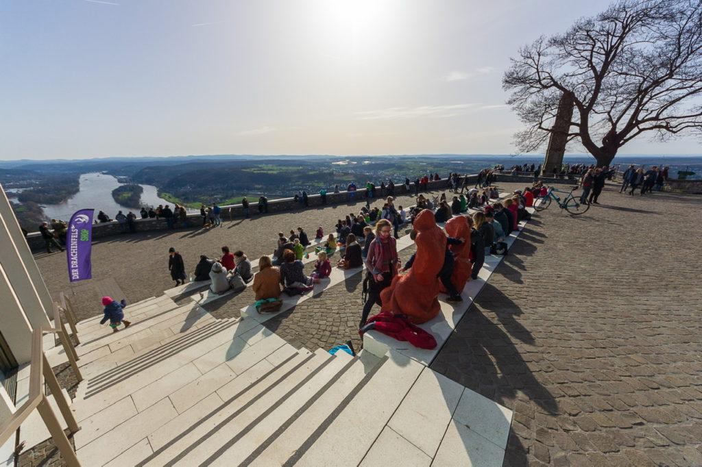 Besucherplateau auf dem Drachenfels